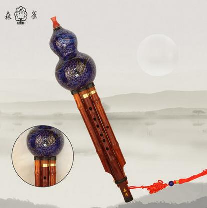 森雀品牌 厂家直销 包邮 景泰蓝红木杆葫芦丝 可调 降b c调 224