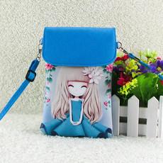韩版斜挎手机包可爱卡通大屏手机袋学生儿童零钱包斜跨单肩小挂包