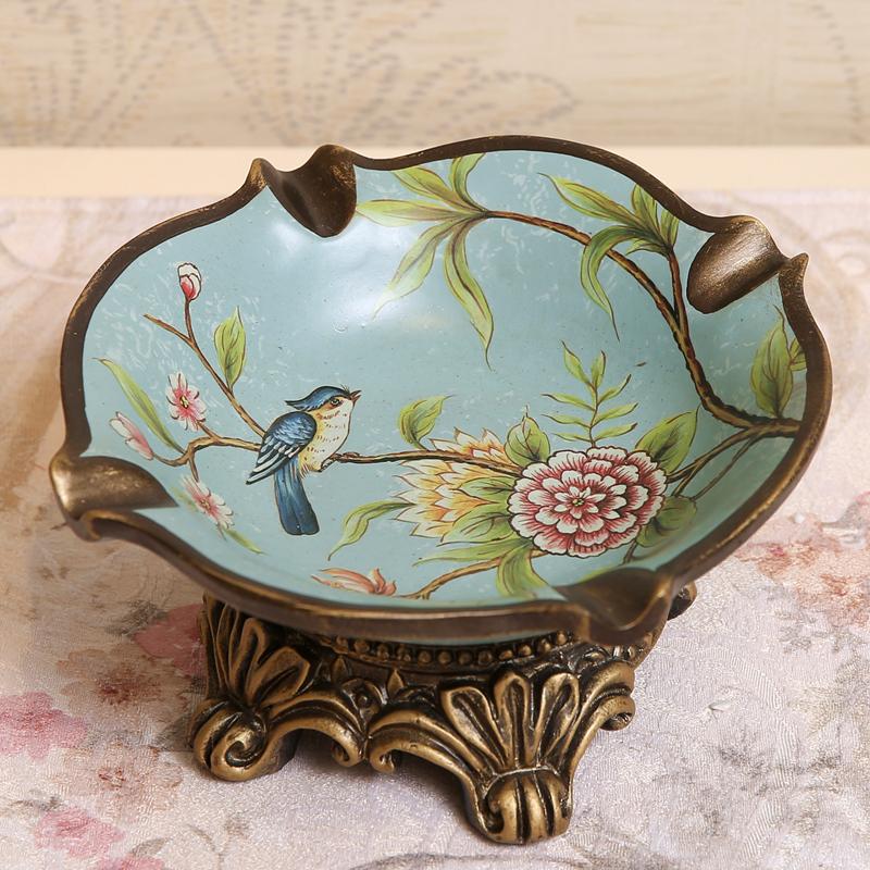 煙灰缸美式 歐式陶瓷大碼 客廳茶幾辦公室擺件
