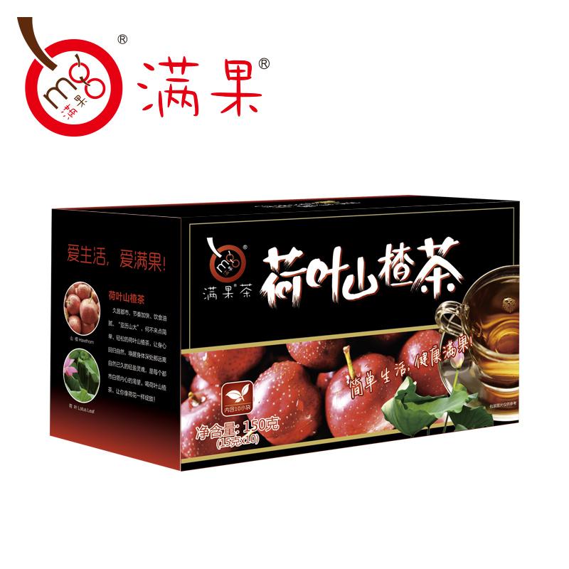~天貓超市~滿果花草茶荷葉山楂茶150g 盒清爽荷葉茶15g^~10袋