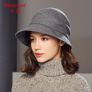 卡蒙冬天帽子女毛呢渔夫帽英伦复古修脸礼帽户外休闲盆帽时装帽