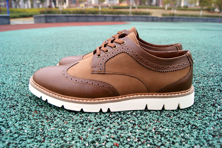 Pull & bear off size special offer mens business casual shoes retro fashion lace up British Oxford Shoes