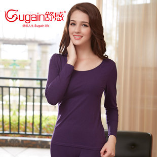 Shu thank Ms Modal thermal underwear sets thin section bottoming low collar base Qiuyiqiuku
