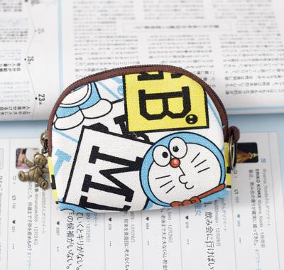 Art design double deck cartoon bag boys zero wallet teenagers card bag multi layer weave childrens folding recognition