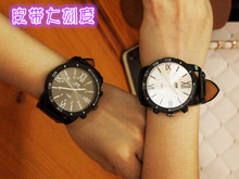 South Korea's big dial tide table female original SuFeng zipper Chen male students GD GD personality couple watches