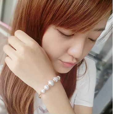 Brand jewelry promotion sweet and lovely opening pearl bracelet for girls
