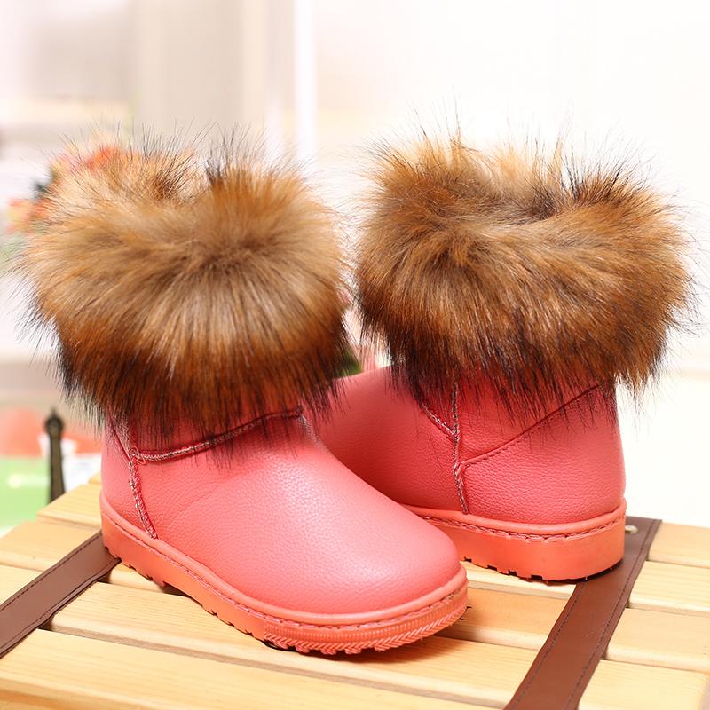 Корейских детей снега сапоги Зимние Сапоги зимние загрузки ребенка зимних Ботинок сапоги водонепроницаемый non-slip обувь для девочек Чао и Мао