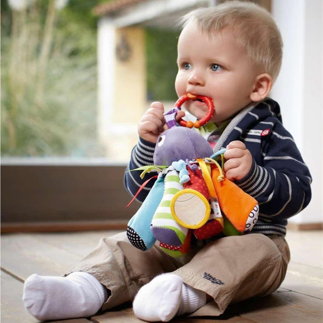 带功能多彩的八爪鱼刚出生diy婴儿车玩具手工床挂床铃床头铃玩偶
