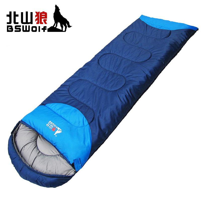 Kitayama волк спальный мешок для взрослых на открытом воздухе путешествие зима четыре сезона теплый комнатный кемпинг двойной модель грязный хлопок спальный мешок