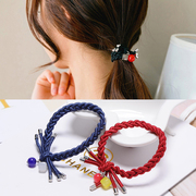 Know Nicole Candy-colored hair hair accessories hair band ball ring ropes made by the Korean version of the ball band tiara