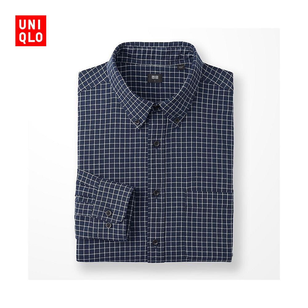 男裝 法蘭絨格子襯衫 180813 優衣庫UNIQLO