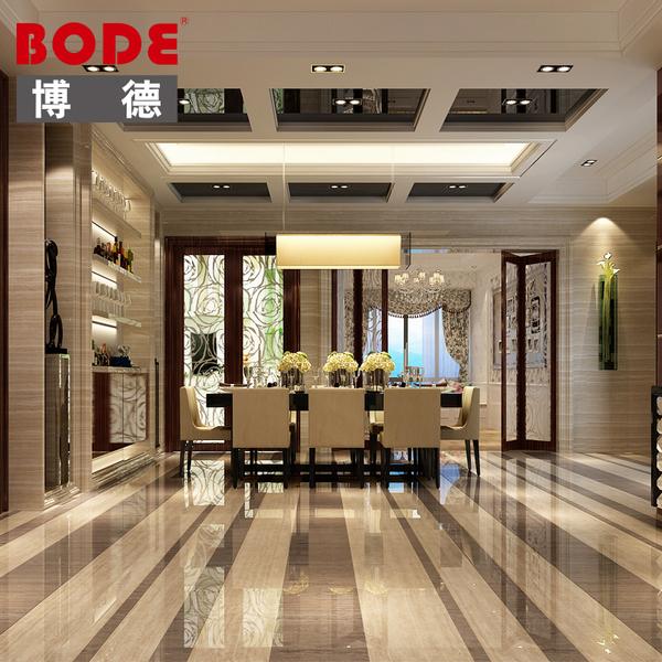 博德瓷砖 800800 抛光砖 木纹砖 客厅地砖 墙砖 佛山 美的广场