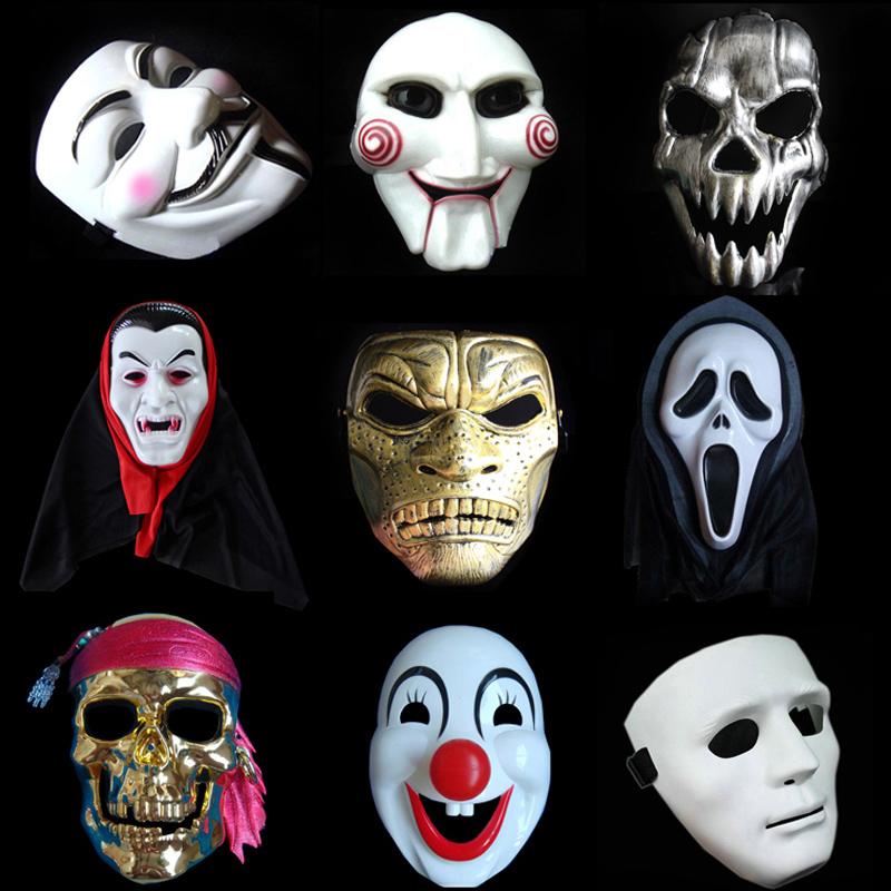 Хэллоуин для взрослых маска V слово ненависть убить команда бензопила шок душа маска клоун череп улица танец мужской и женщины