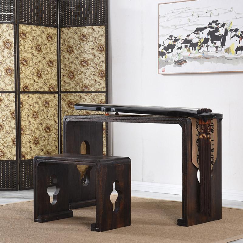 Резонанс горения Tongmu Guqin стол и стул в китайском стиле полосатый Шкаф для столов копия Настольный чай Han Guoxue