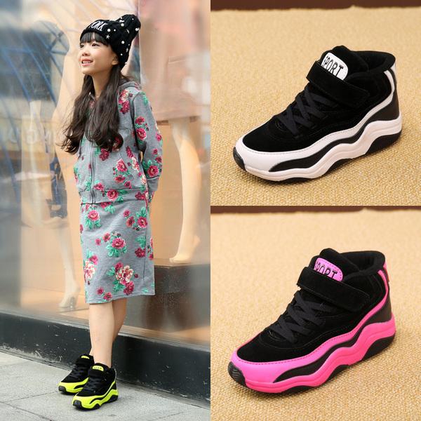 女童棉鞋冬季新款加绒加厚大棉鞋儿童棉鞋保暖儿童鞋女孩棉鞋