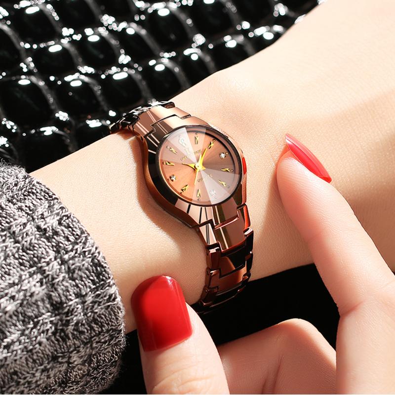 正品男士鎢鋼女生手表石英表防水超薄女士手表水鑽表商務手表女表