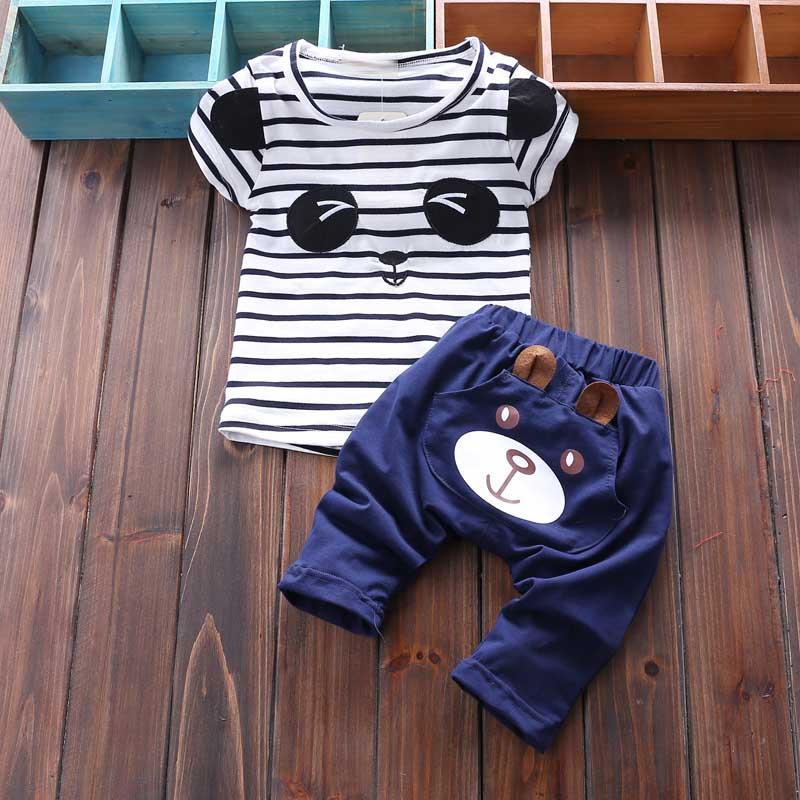 2016 兒童短袖套裝男女童夏裝01234歲寶寶夏天衣服兩件套
