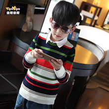Children aged between 3 and 4 to 5 6 7 autumn sweater 8 boys 9 male children 10 11 sweater autumn autumn fashion clothing