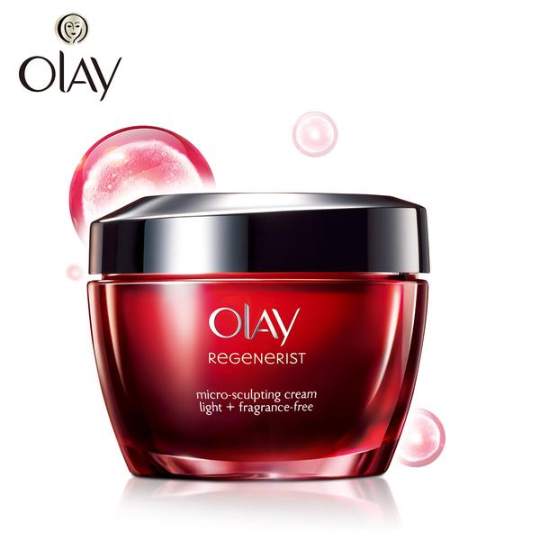 Olay玉兰油新生塑颜金纯面霜/轻盈型补水保湿提拉紧致肌肤大红瓶