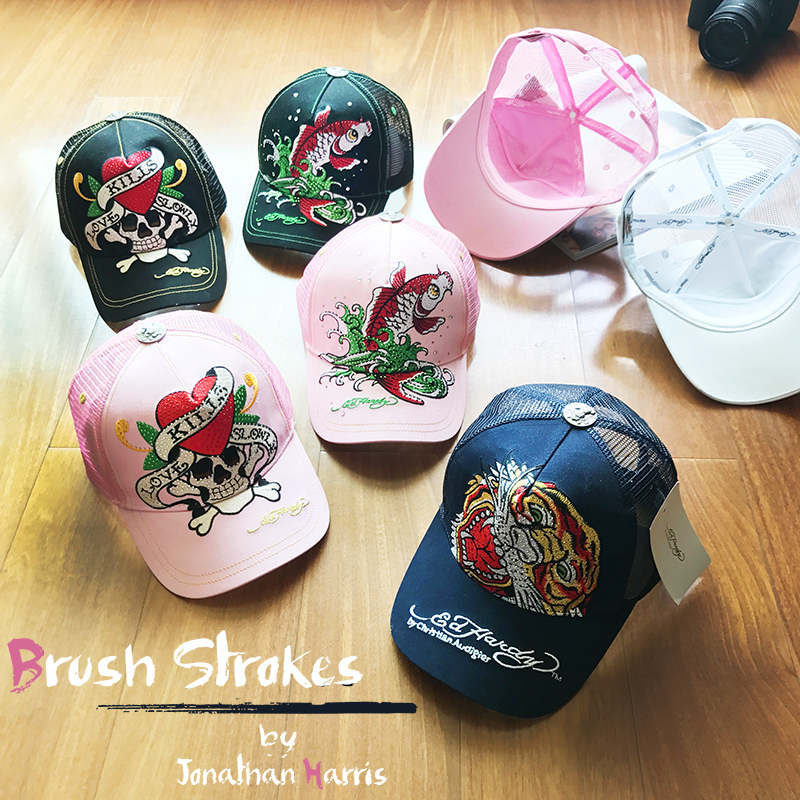 2020 new European and American fashion tiger skull exquisite embroidery duck tongue hat hollow air permeable male and female sun visor