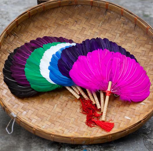 彩色工艺羽扇手工羽毛扇芙蓉扇天鹅羽毛广场舞扇纳凉扇孕妇宝宝扇