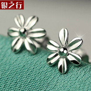 Korean fashion female flower earrings 925 sterling silver earrings jewelry original personality