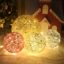 Spring Festival Decoration Tieyi Ball Luminous Decoration Ball Hanging Ball Decoration New Year's Day Decoration of Large Shopping Mall Hotel