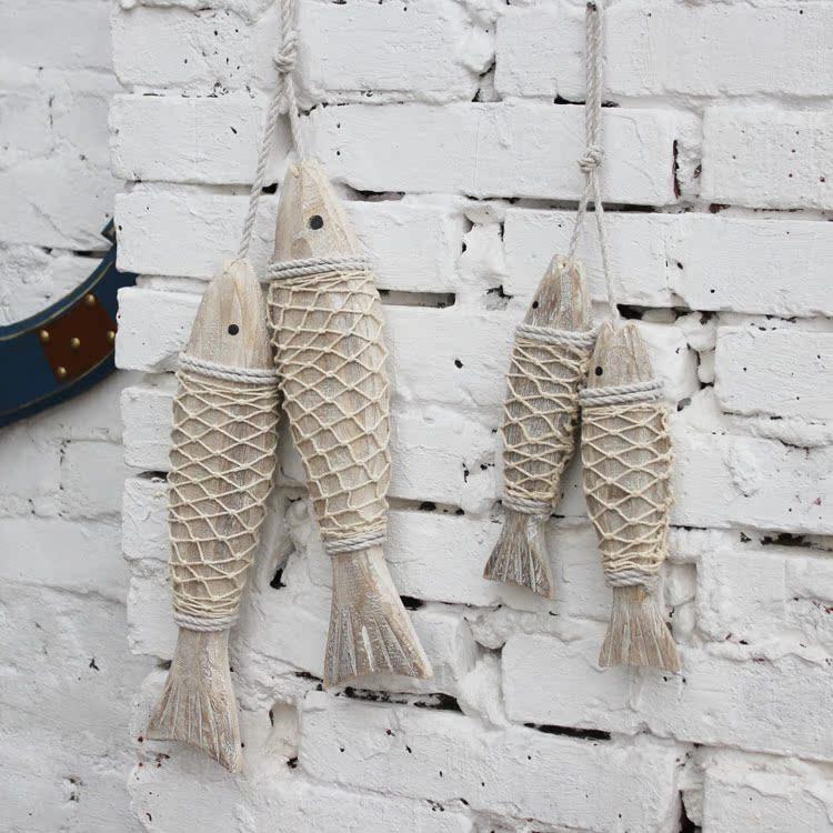 Средиземноморской рыбы подвески деревянные рыбы рыбы росписи американском стиле страны стены завесы стены украшения моделирования серии декоративной ручной-