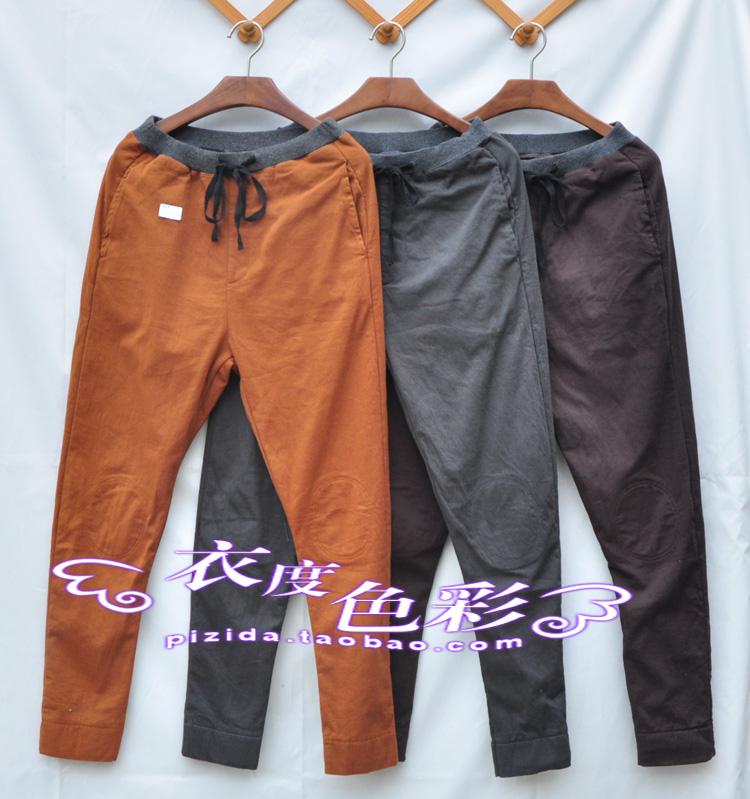 Хлопок, набивочного подлинной 2016 новых Эд iqyipai осенью и зимой плюс флисовые штаны упругие талии брюки женщина с связаны ноги от перенапряжения