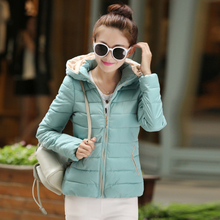 The new European winter 2015 down cotton-padded jacket female han edition cultivate one's morality even cap down jacket short cotton-padded clothes