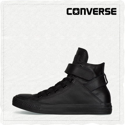CONVERSE匡威官方 All Star Brea Leather牛皮魔术贴 549583C