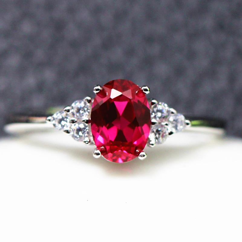 Корейский 1 карат руби кольцо женские модели 925 серебро 925 пробы мозаика открытие кольцо ювелирные изделия отдавать подруга любовник подарок