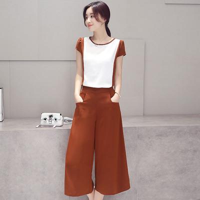 新款女装2016夏装两件套夏季韩版时尚套装阔腿裤女潮