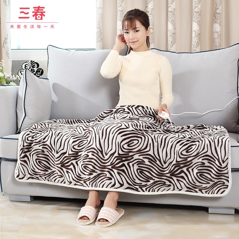 Три весненний тёплый electric термоодеяло может надеть крышка одеяла электрическое отопление шерстяные одеяла теплый тело одеяло фланель случайный одеяло kneepad одеяло
