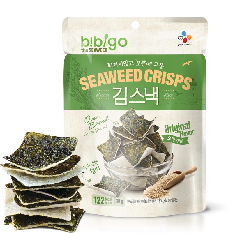 希傑 必品閣韓國 bibigo海苔米餅脆(原味)30g