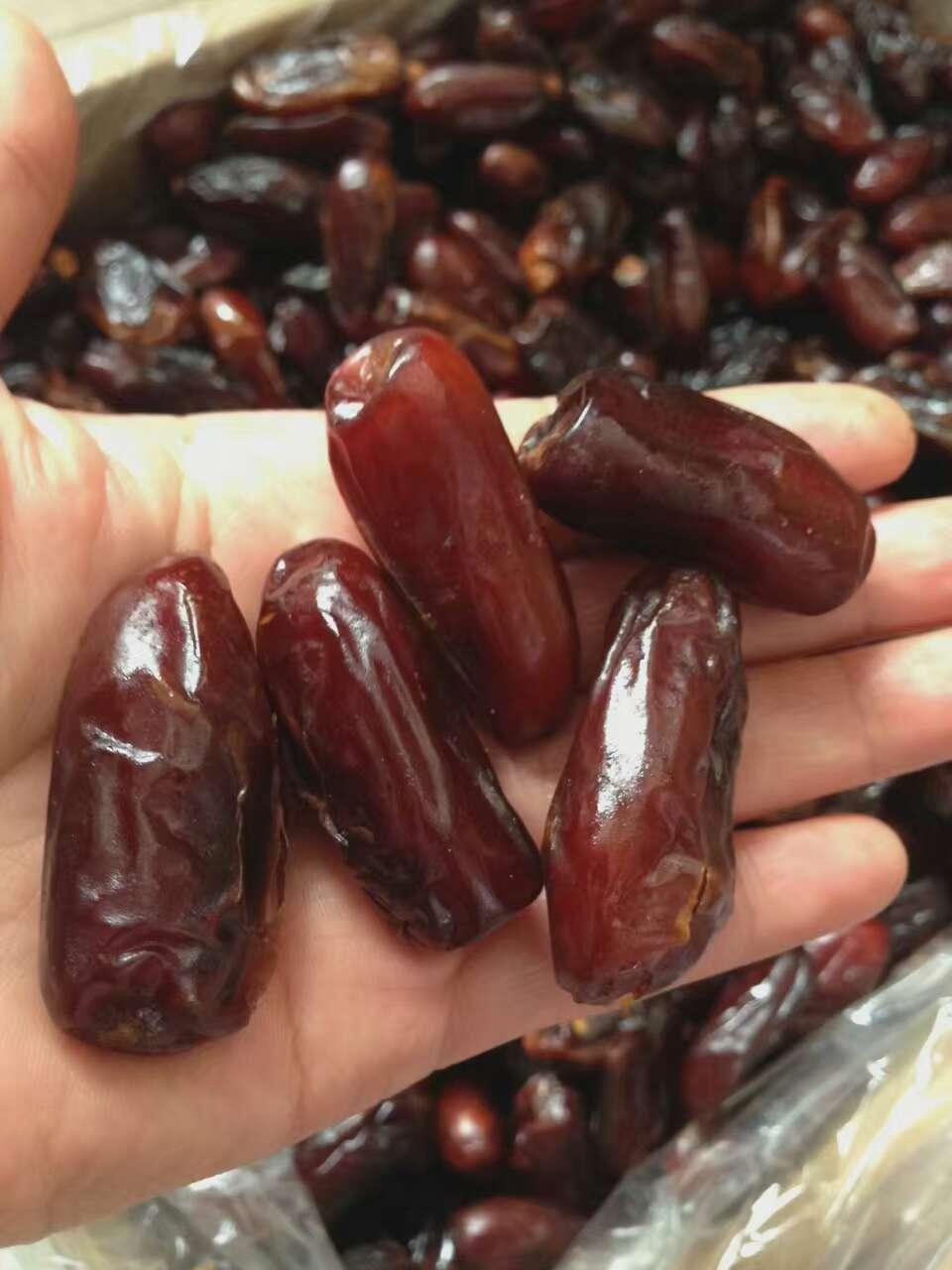 椰枣进口阿拉伯蜜枣进口甜枣清真零食特产干果椰枣500g包邮黑椰枣