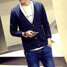 2015 autumn outfit none knit cardigan sweater man han edition tide car small coat Japanese sweater male