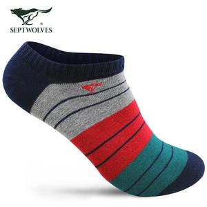 七匹狼薄款袜子男短袜短筒棉袜夏季运动防臭低帮隐形男士船袜男袜