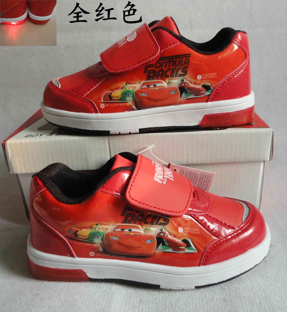 Дисней Молния Маккуин Диснея мальчиков обувь авто Чистка Flash обувь Обувь случайные кроссовки пакеты электронная почта