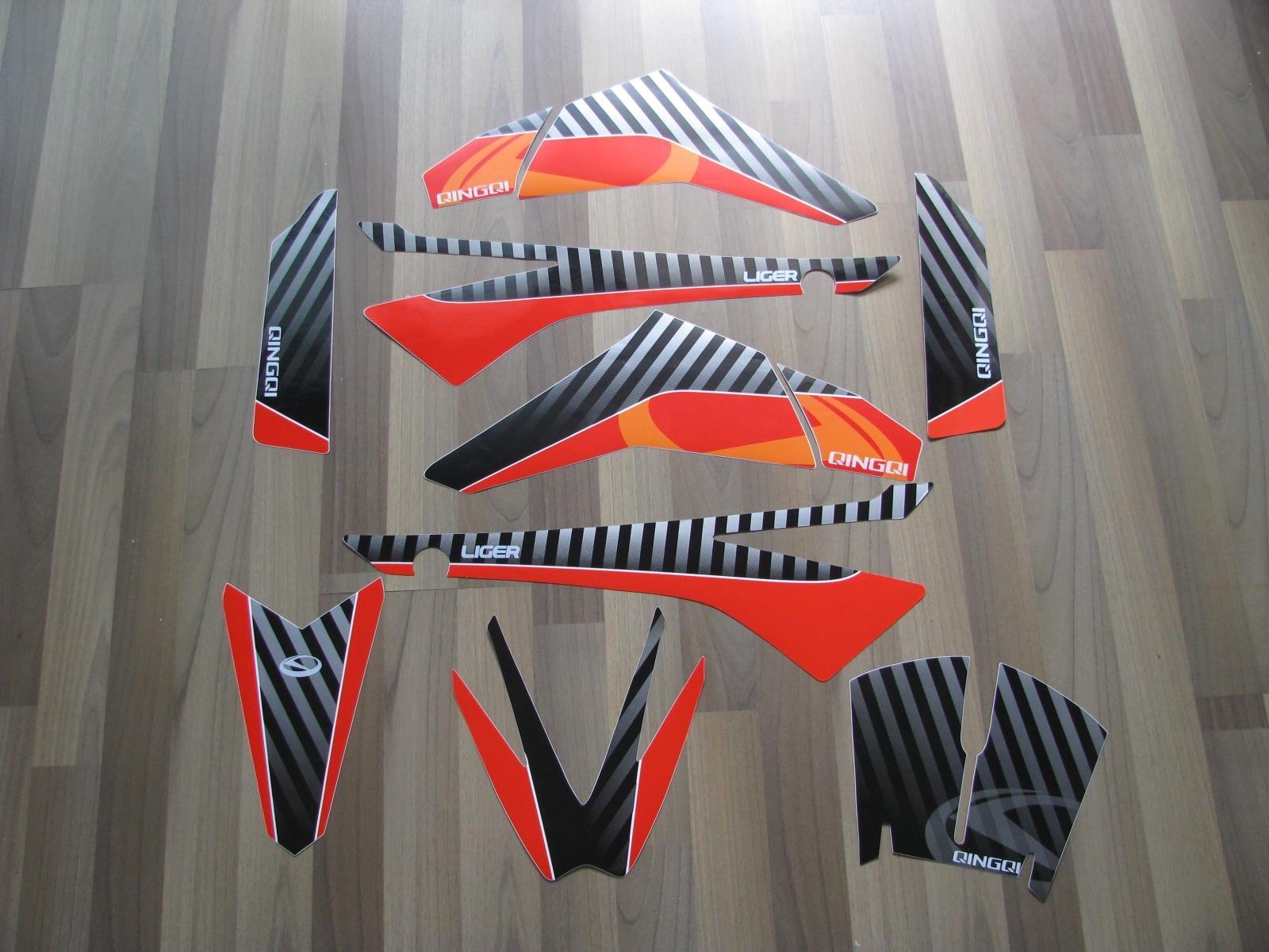 Цзинань qingqi QM250GY мастиф серии автомобиля наклейки, отличительные знаки автомобилей (матовый черный)
