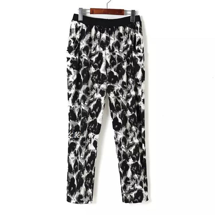 ZJ36 внешняя торговля плюс размеры женской одежды лето 2015 мм fat новые чернила печатных девушки брюки свободные брюки