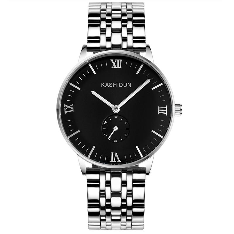卡詩頓正品男士手表鋼帶防水男表商務腕表夜光全自動手表男機械表