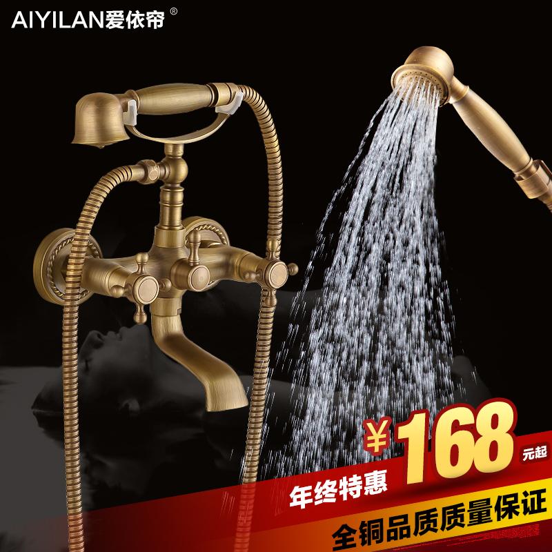 Античная медь душ пакет электронной почты телефона Душ голову душем набор ручной душ и душ стиль