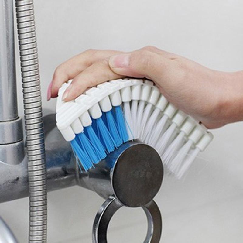 日式高品质弯曲多用清洁刷软性百变刷卫浴厨房水池刷子