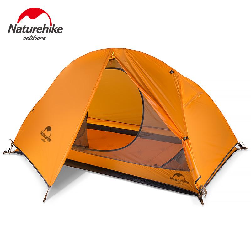NH户外单人帐篷 20D硅胶防暴雨双层 超轻单兵帐篷骑行露营装备(非品牌)