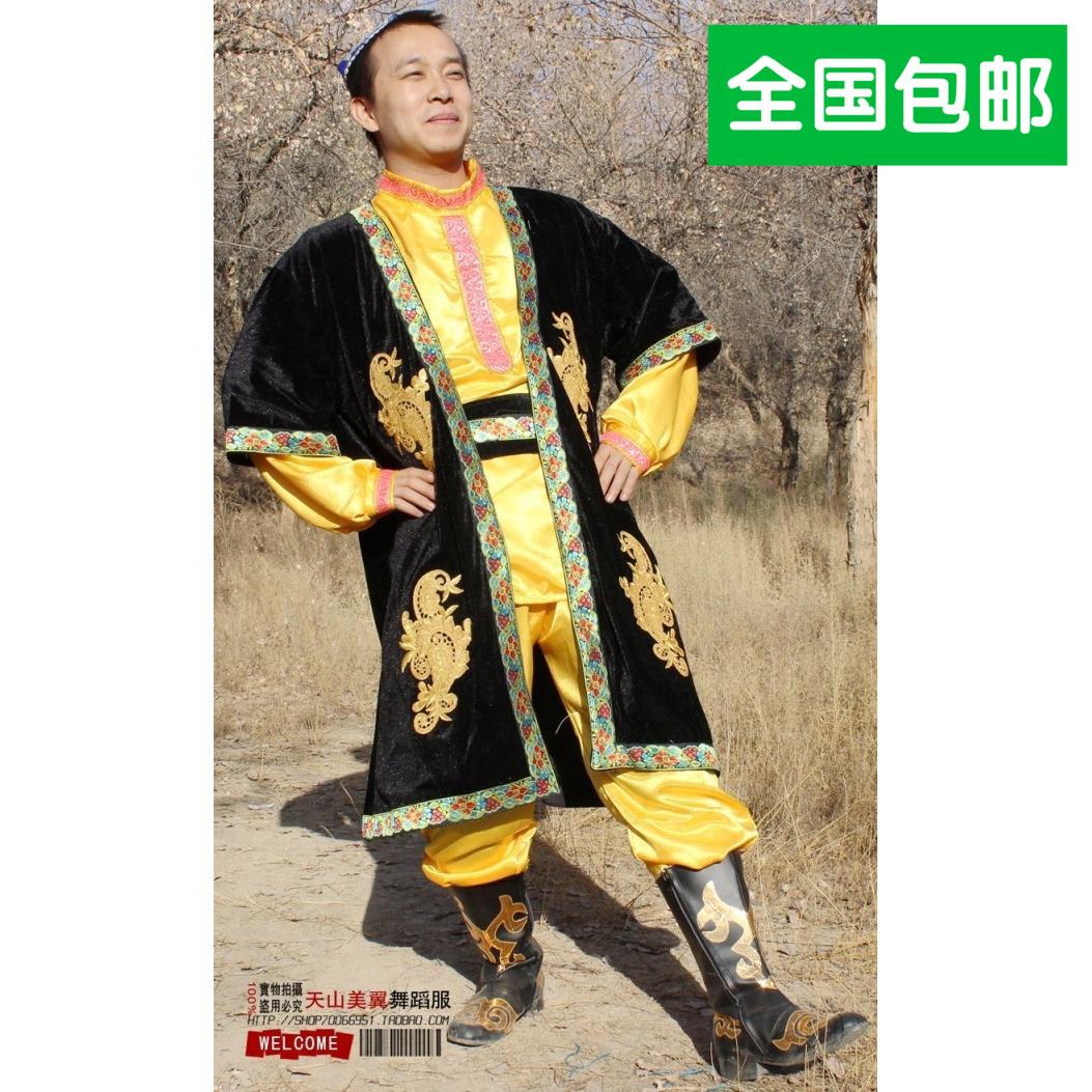长马甲款\民族舞蹈演出服装\ 维吾尔族男装\ 新疆民族舞蹈服 男士