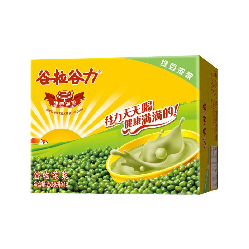 ~天貓超市~穀粒穀力穀物濃漿綠豆濃漿250ml^~18 箱 美味健康