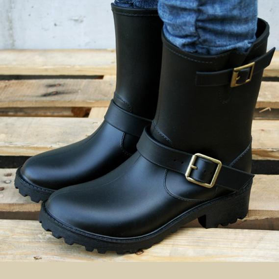 Европе Мартин сапоги, осень/зима мода дождь Сапоги женские Слип тонкий инструмент ботинки воды липучки обувь ковбойские сапоги