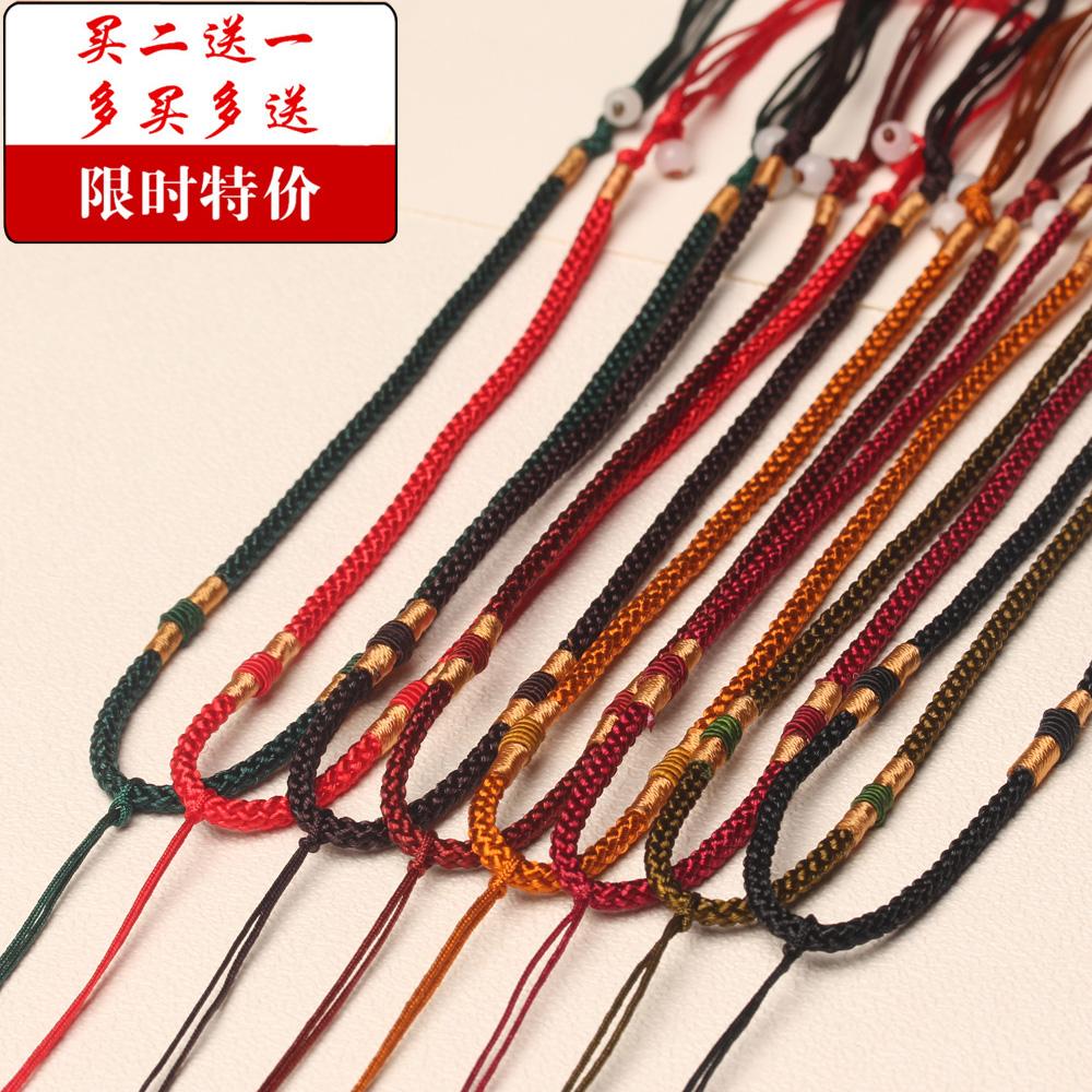 Модельа кулон канат нефрит будда гуань-инь осень нефрит носить шнур ручной работы изумруд ожерелье веревка ткать красная строка оптовая торговля