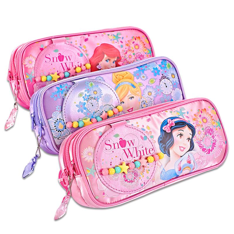 迪士尼小學生鉛筆袋韓國簡約女生大容量文具盒兒童防水耐汙文具袋